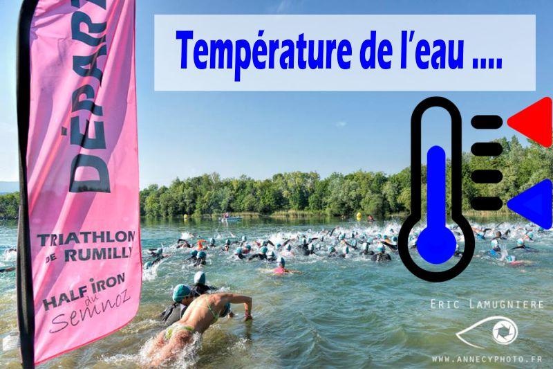 Temperature de l'eau 2016